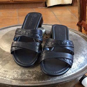 Navy Coach Sandals
